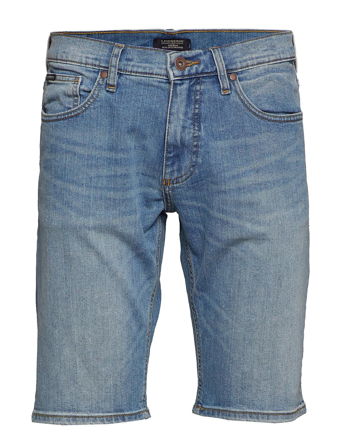 Lindbergh Denim shorts bleached - BLEACHED BLUE