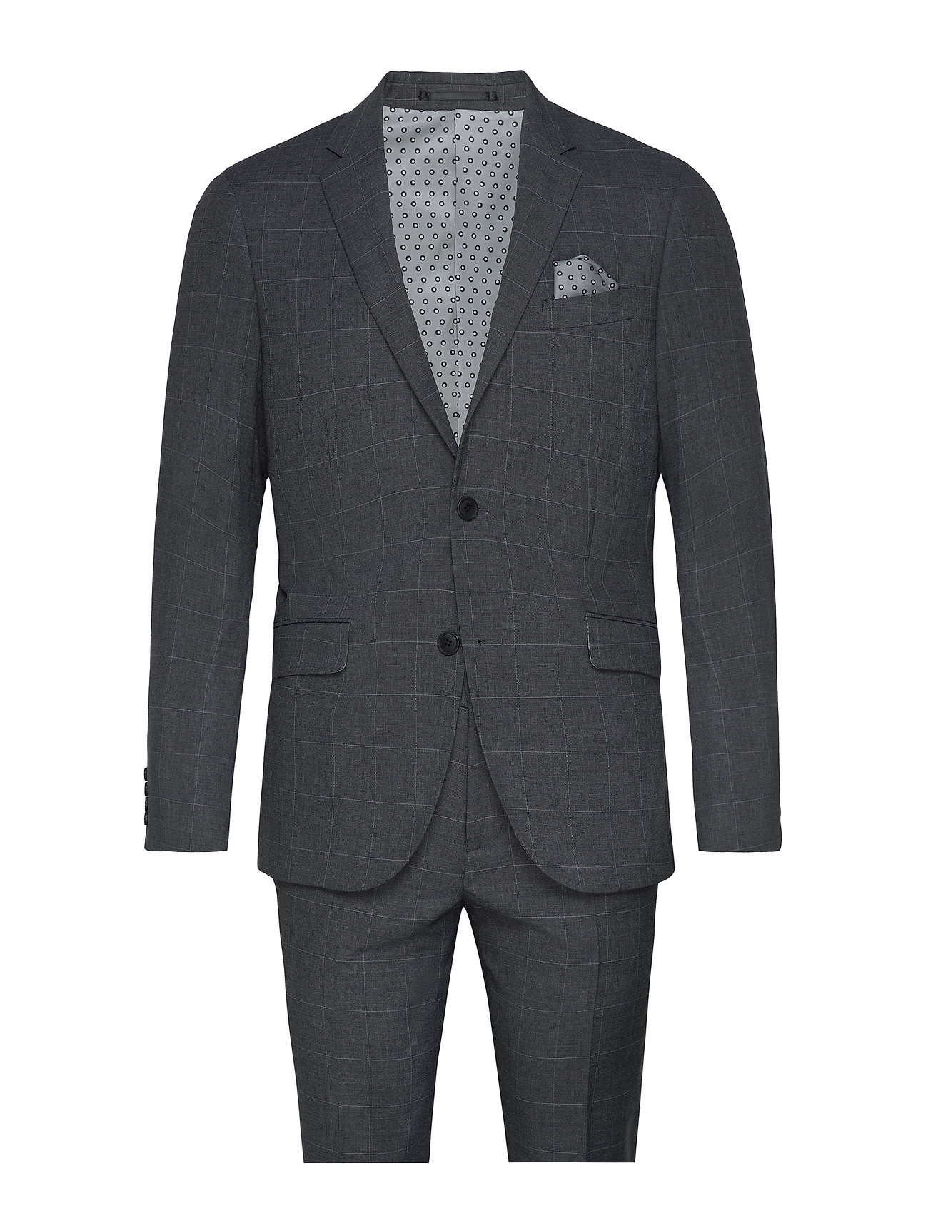 Lindbergh Checked suit - GREY CHECK