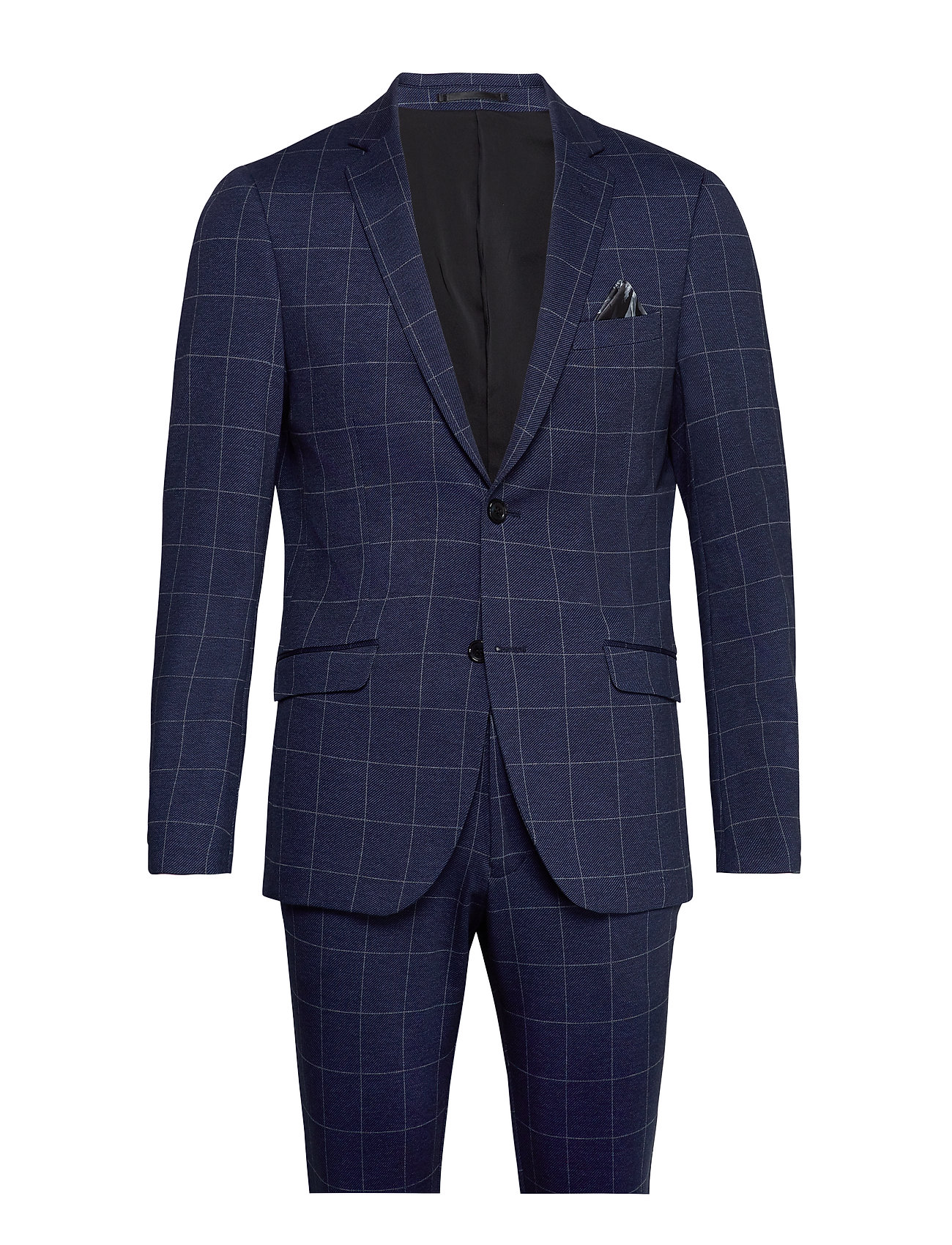 Image of Checked Knitted Suit Habit Blå Lindbergh (3312099045)