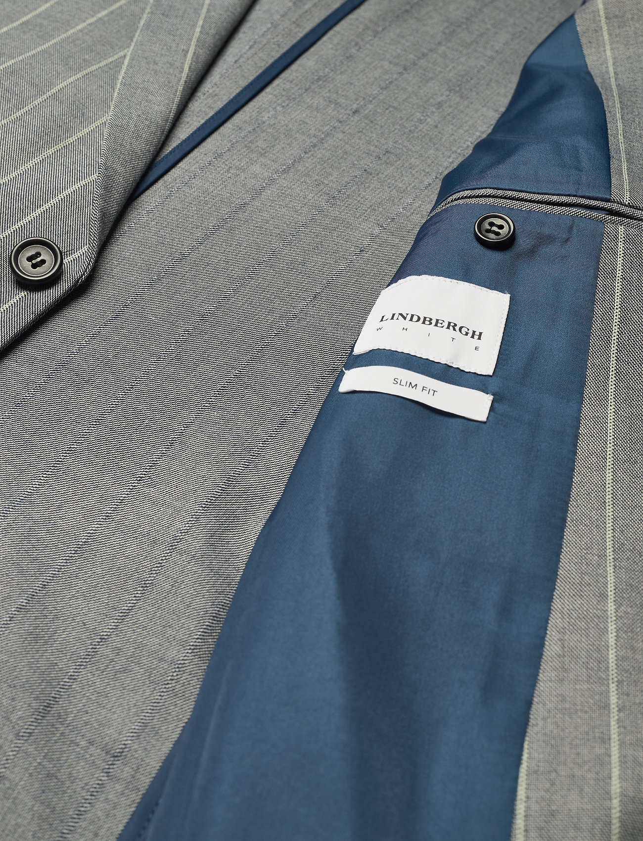 Lindbergh Striped suit w/shorts - Dresser & blazere GREY - Menn Klær