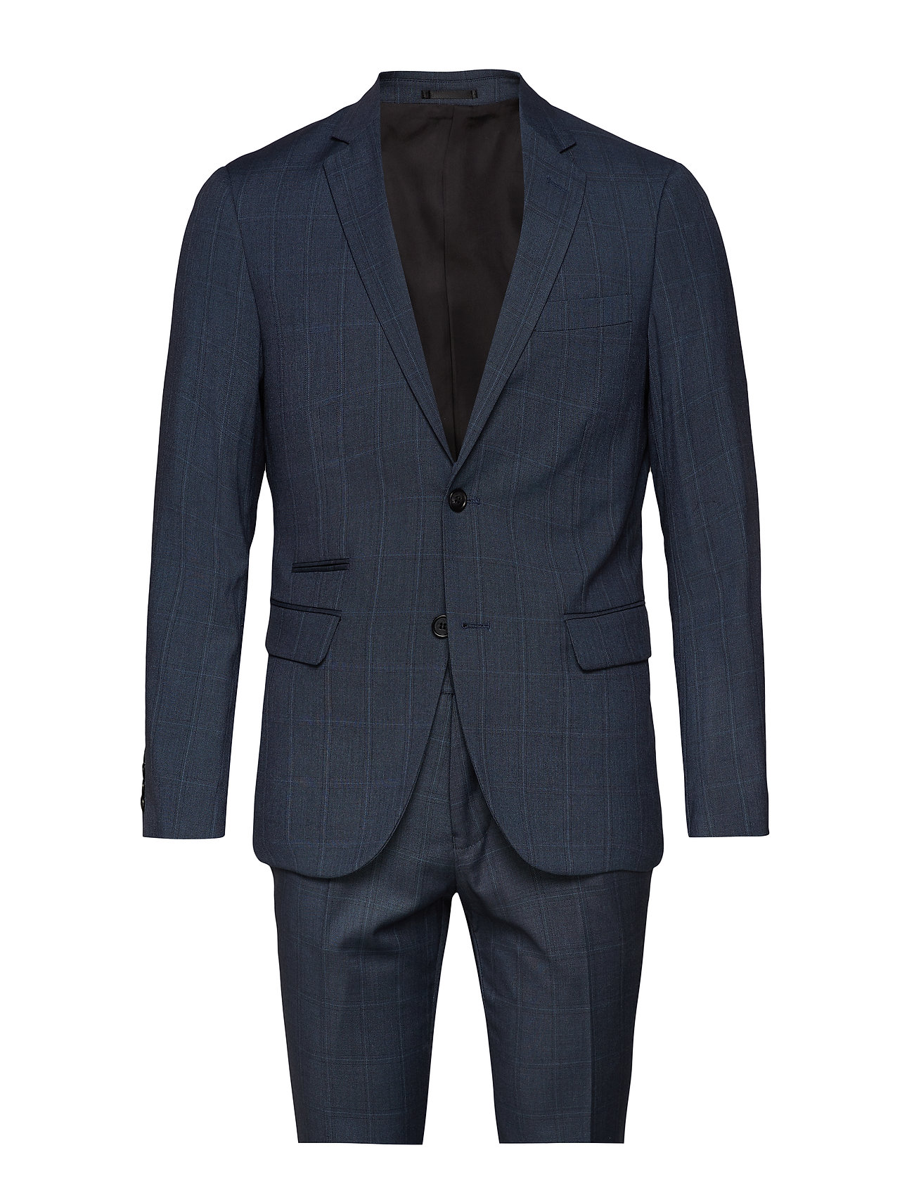 Lindbergh Checked mens suit - BLUE CHECK