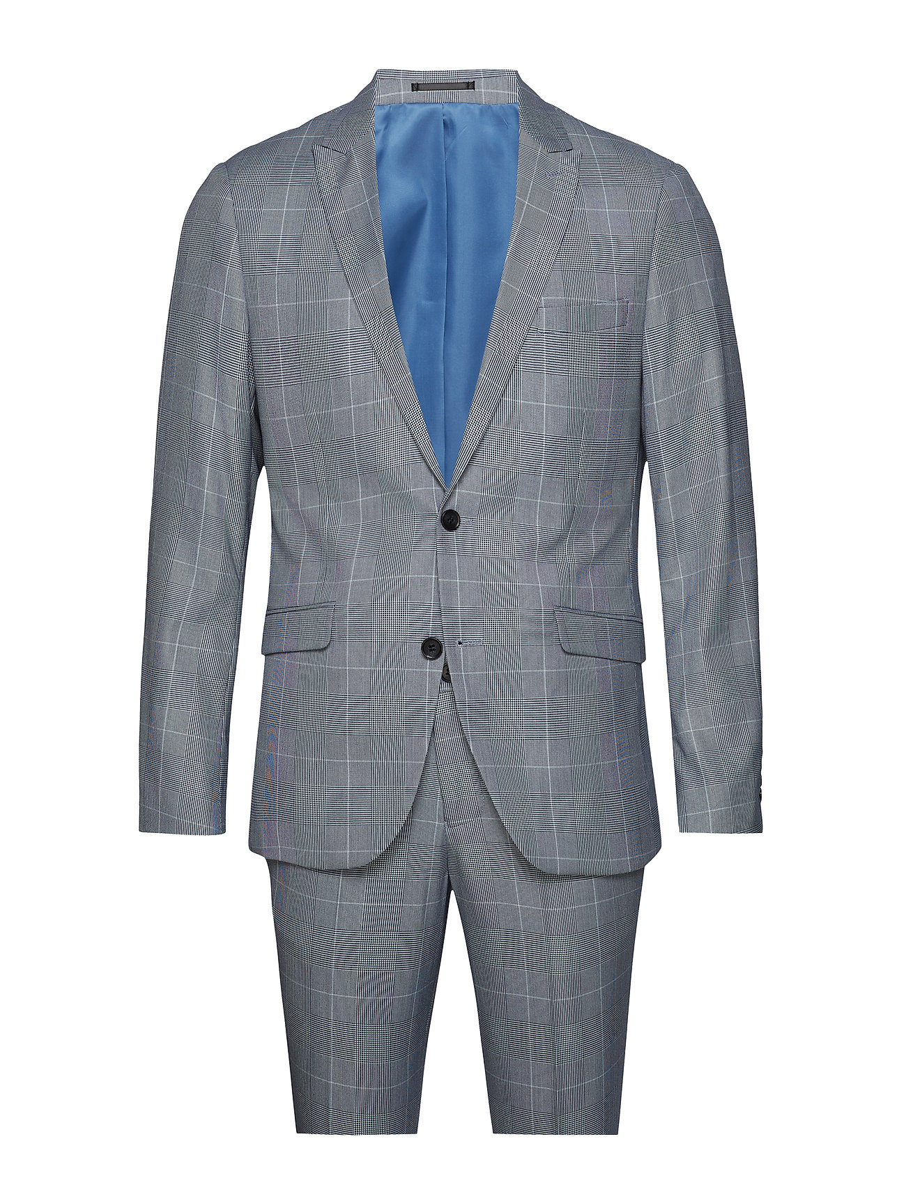 Lindbergh Checked suit - BLUE CHECK