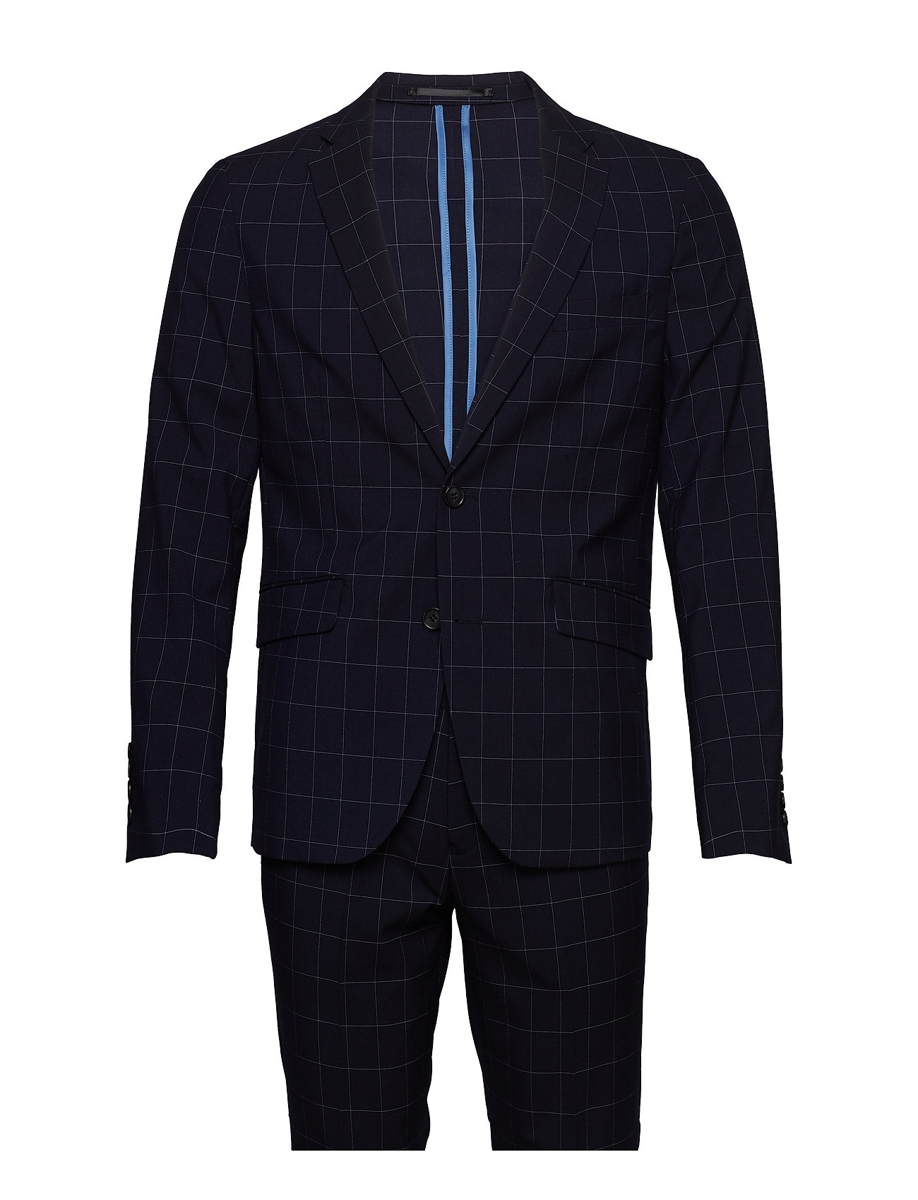 Lindbergh Checked suit - NAVY CHECK