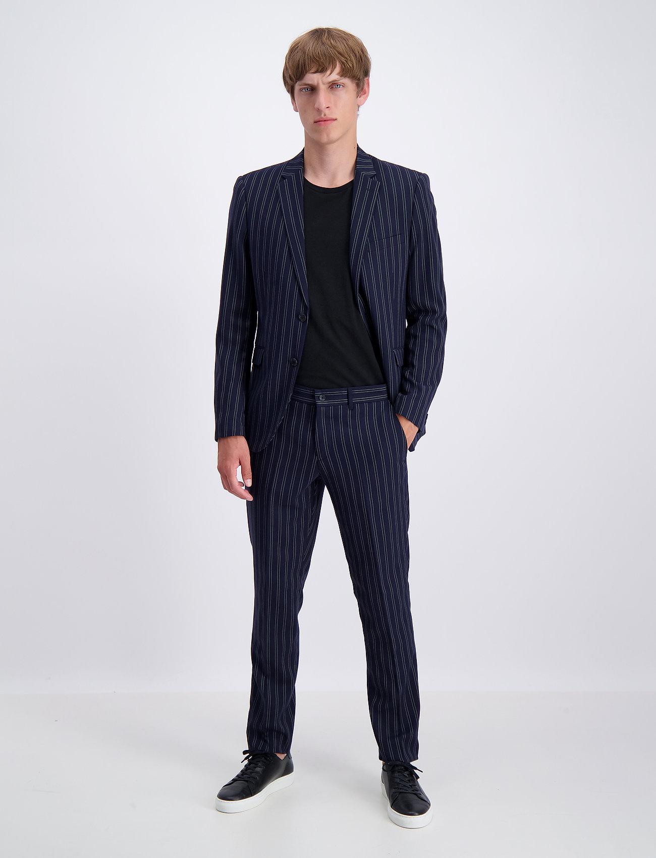 Lindbergh - Striped suit - yksiriviset puvut - dk blue - 0