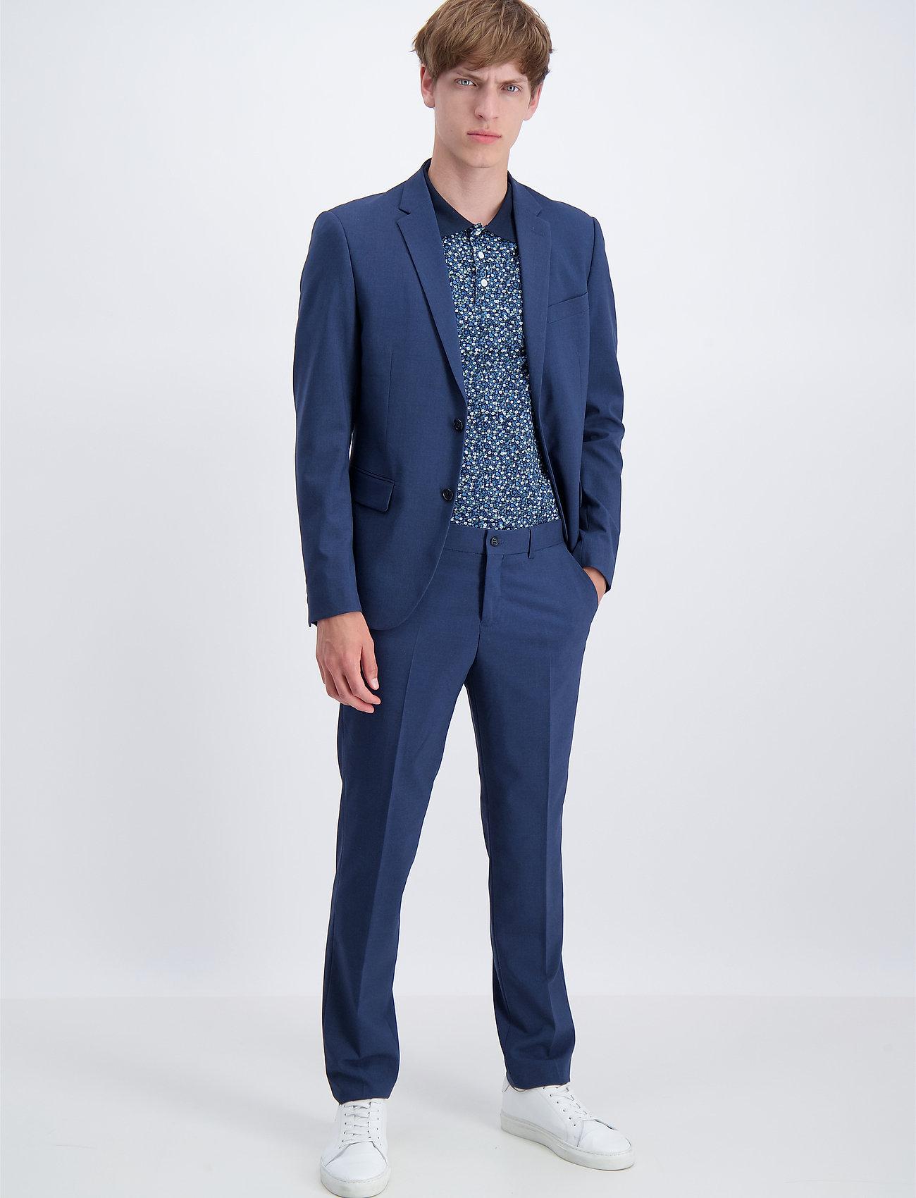Lindbergh - Plain mens suit - yksiriviset puvut - blue mel - 0