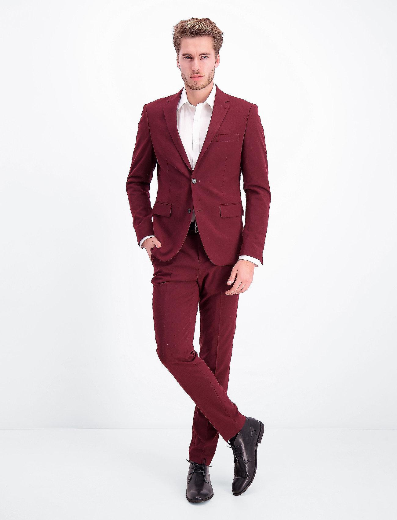 Lindbergh - Plain mens suit - yksiriviset puvut - bordeaux mel