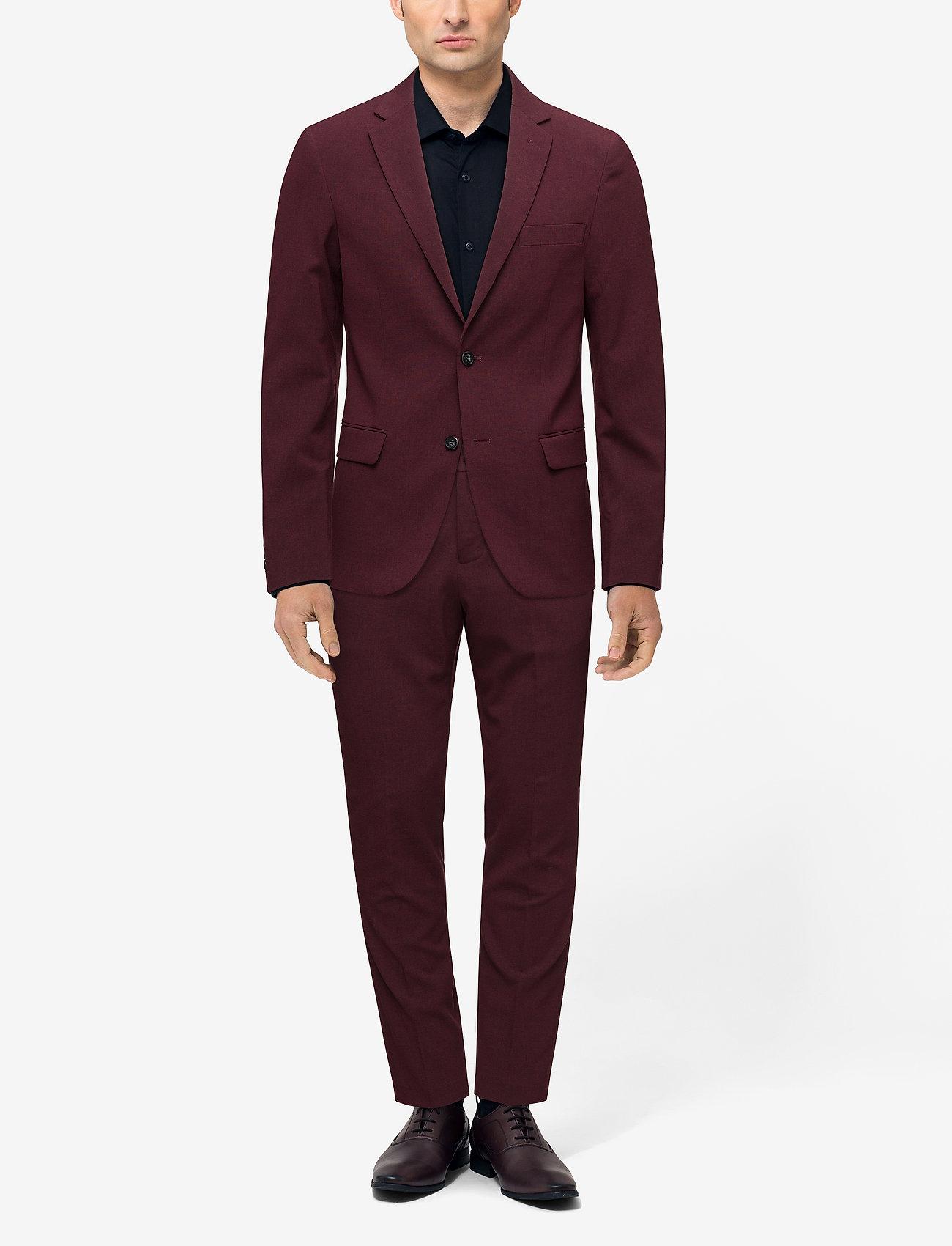 Lindbergh Plain mens suit - BORDEAUX MEL