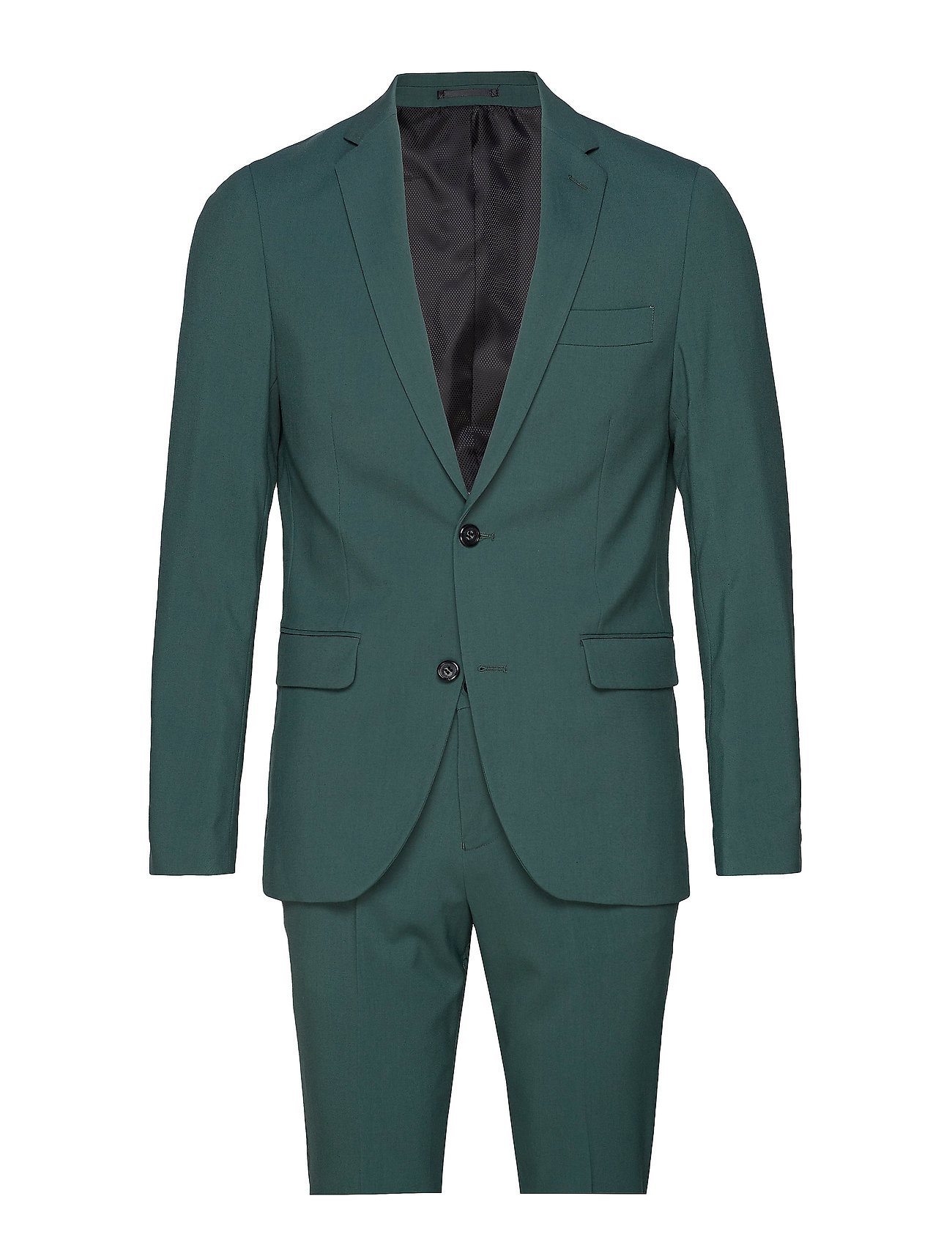 Lindbergh Plain mens suit - DEEP GREEN