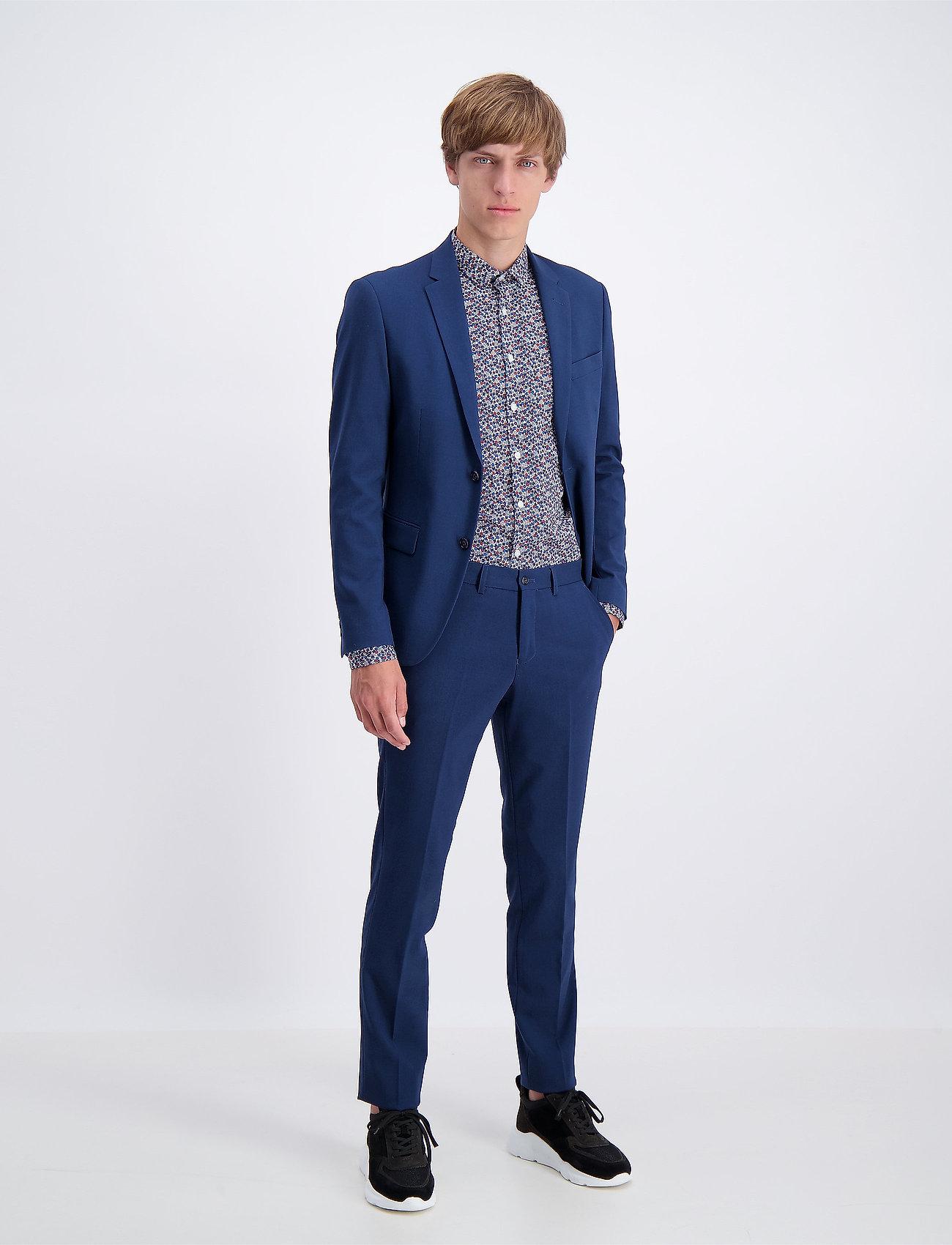 Lindbergh - Plain mens suit - yksiriviset puvut - dk blue - 0