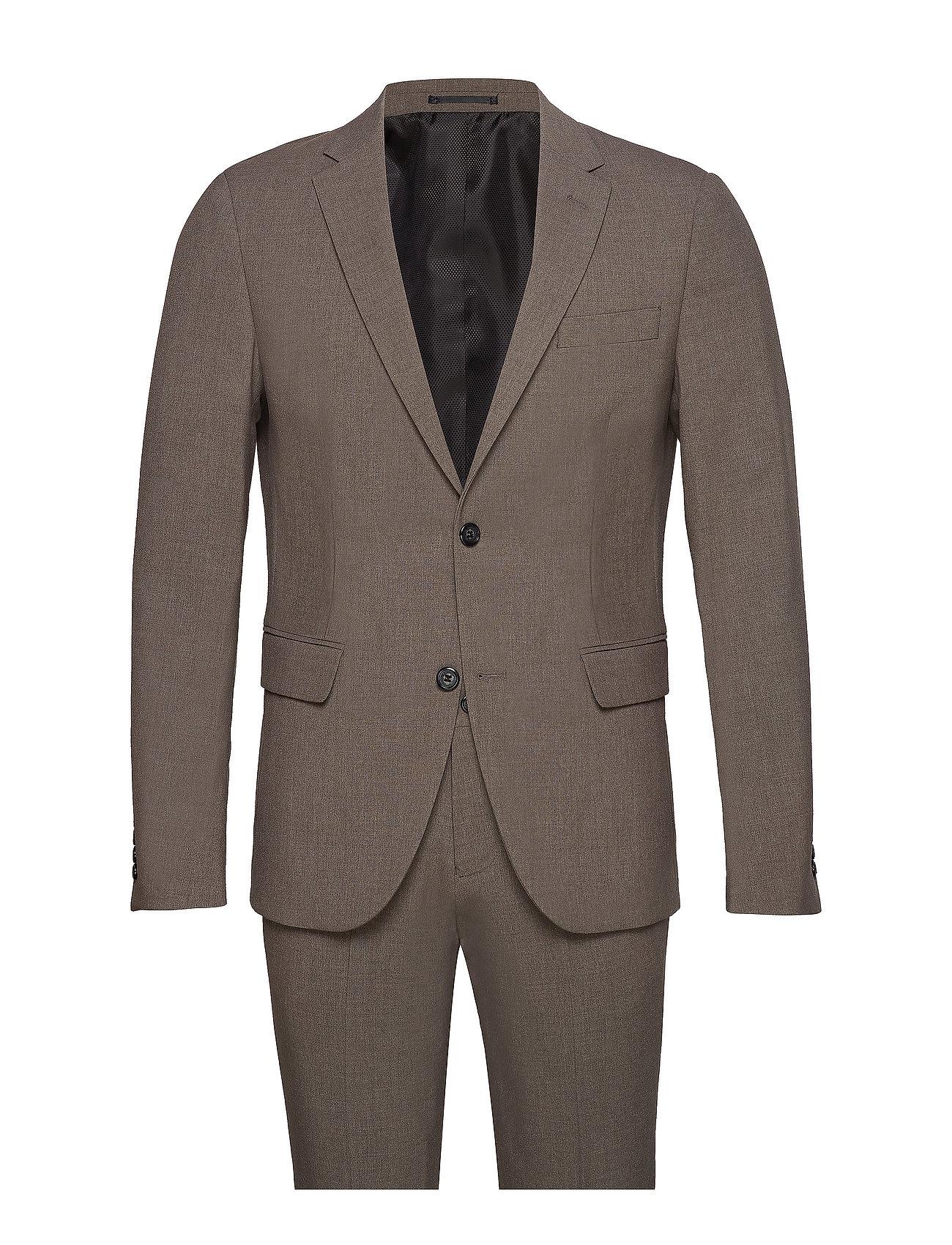 Image of Plain Mens Suit Habit Brun Lindbergh (3528656905)