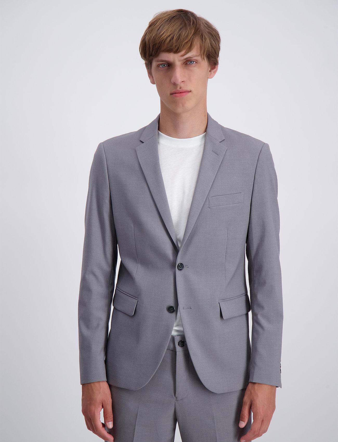 Lindbergh - Plain mens suit - yksiriviset puvut - lt grey mel - 0