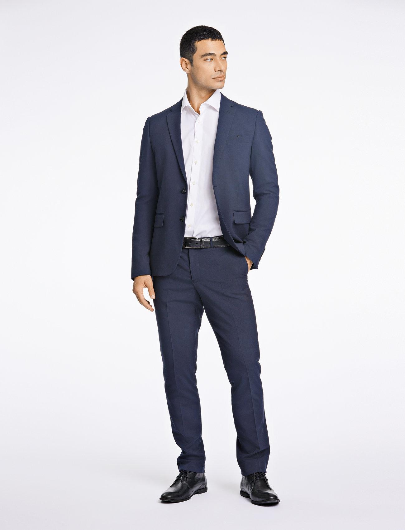 Lindbergh - Plain mens suit - enkeltkneppede dresser - navy - 0