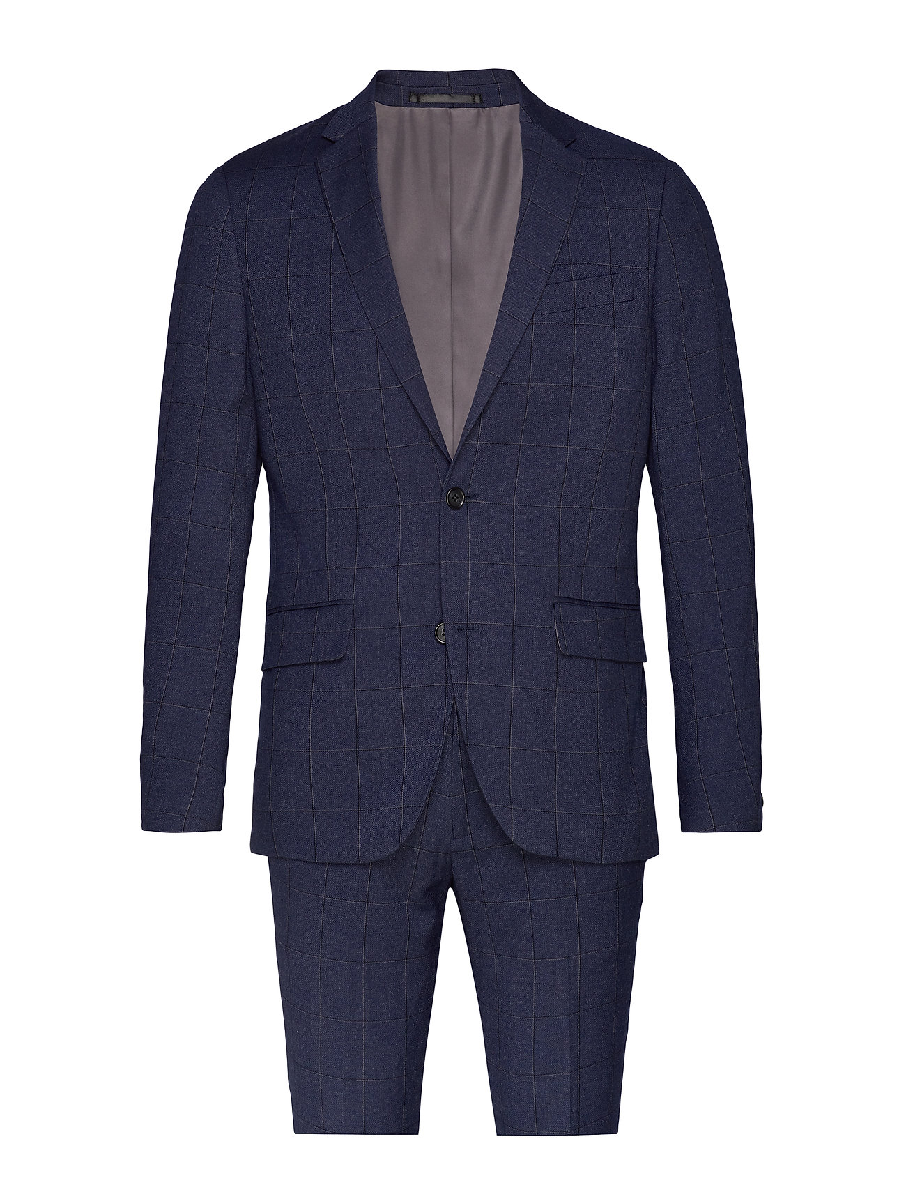 Lindbergh Checked suit - DK BLUE CHECK