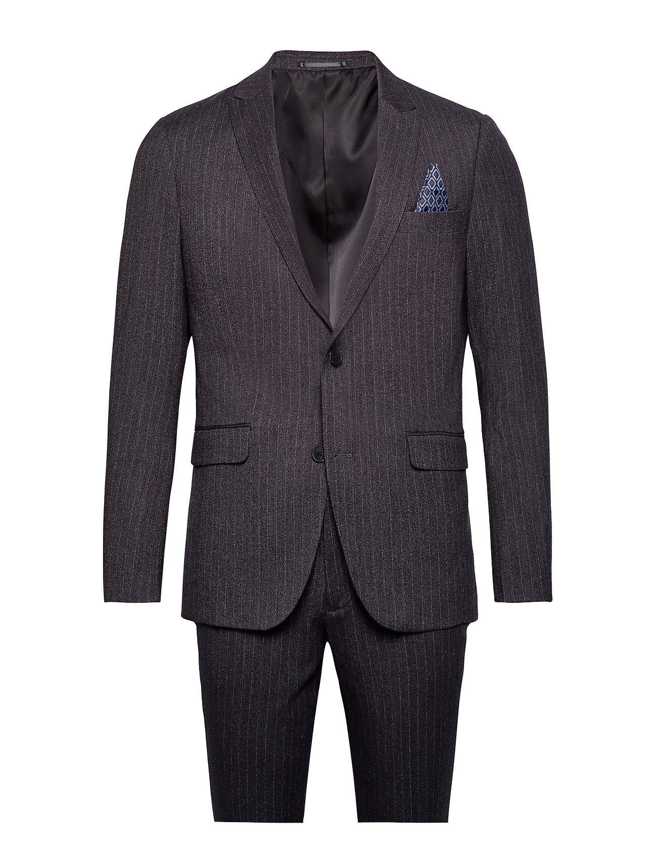 Lindbergh Pin striped suit - DK GREY MEL