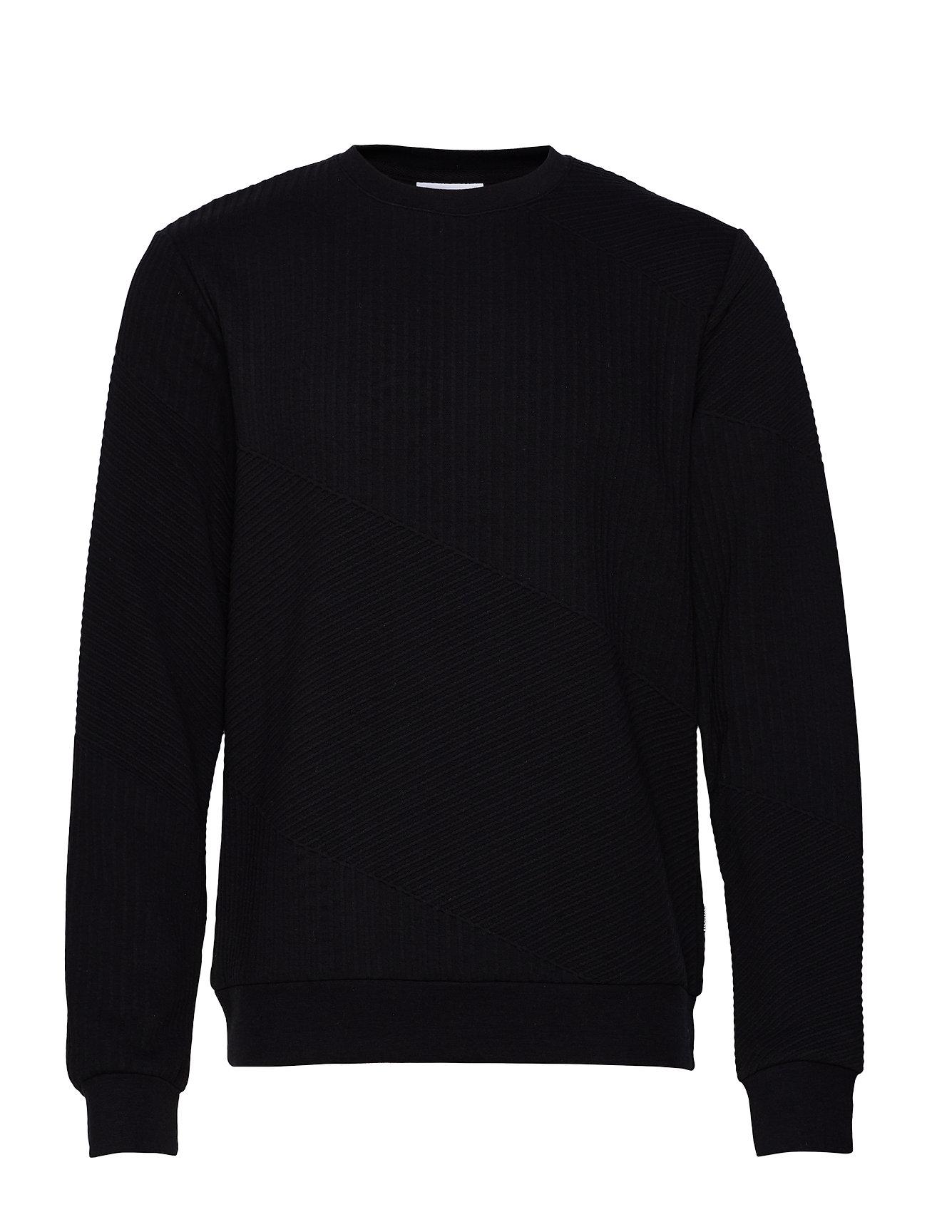 Lindbergh Diagonal structure sweatshirt - BLACK