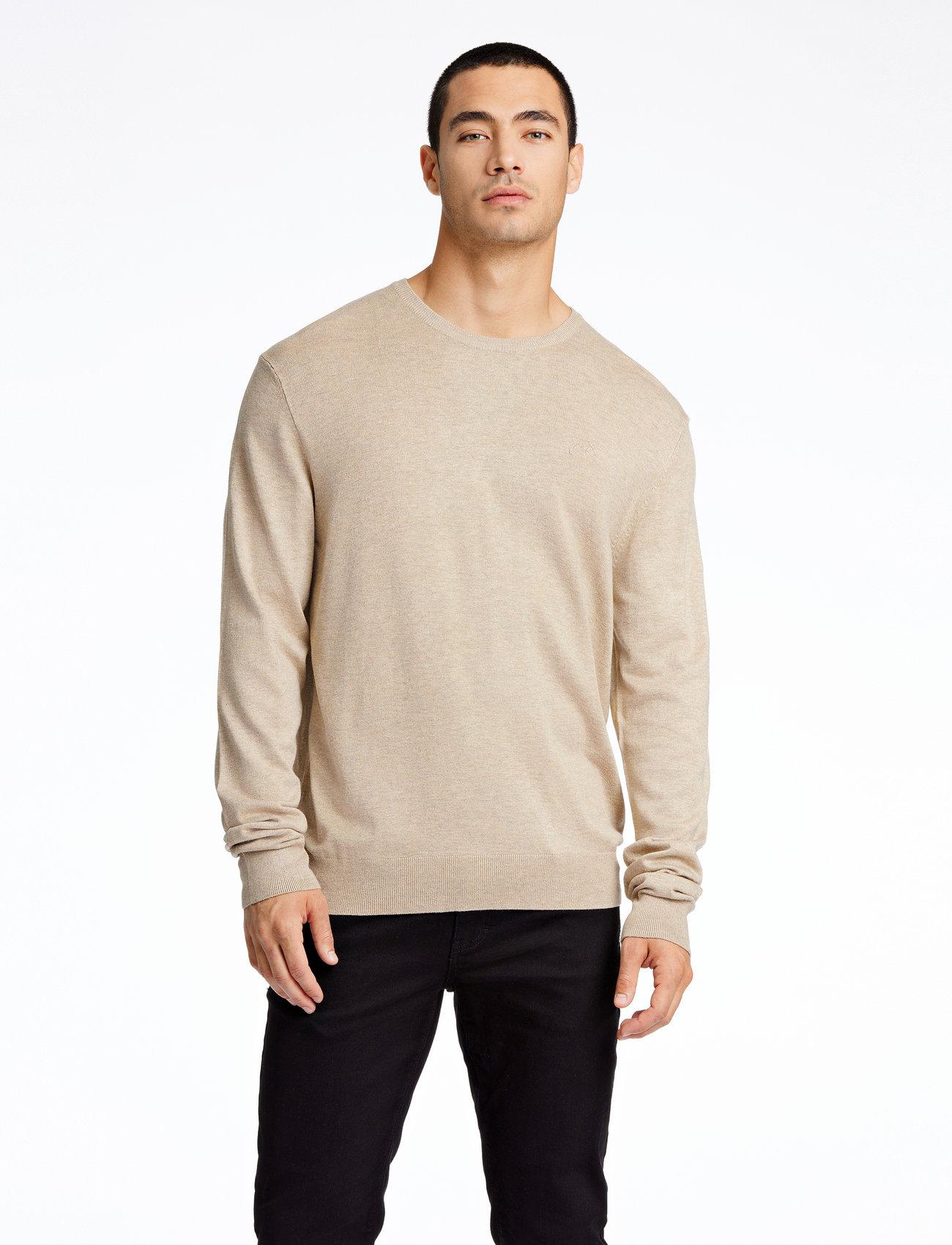 Lindbergh - Mélange round neck knit - perusneuleet - sand mel - 0