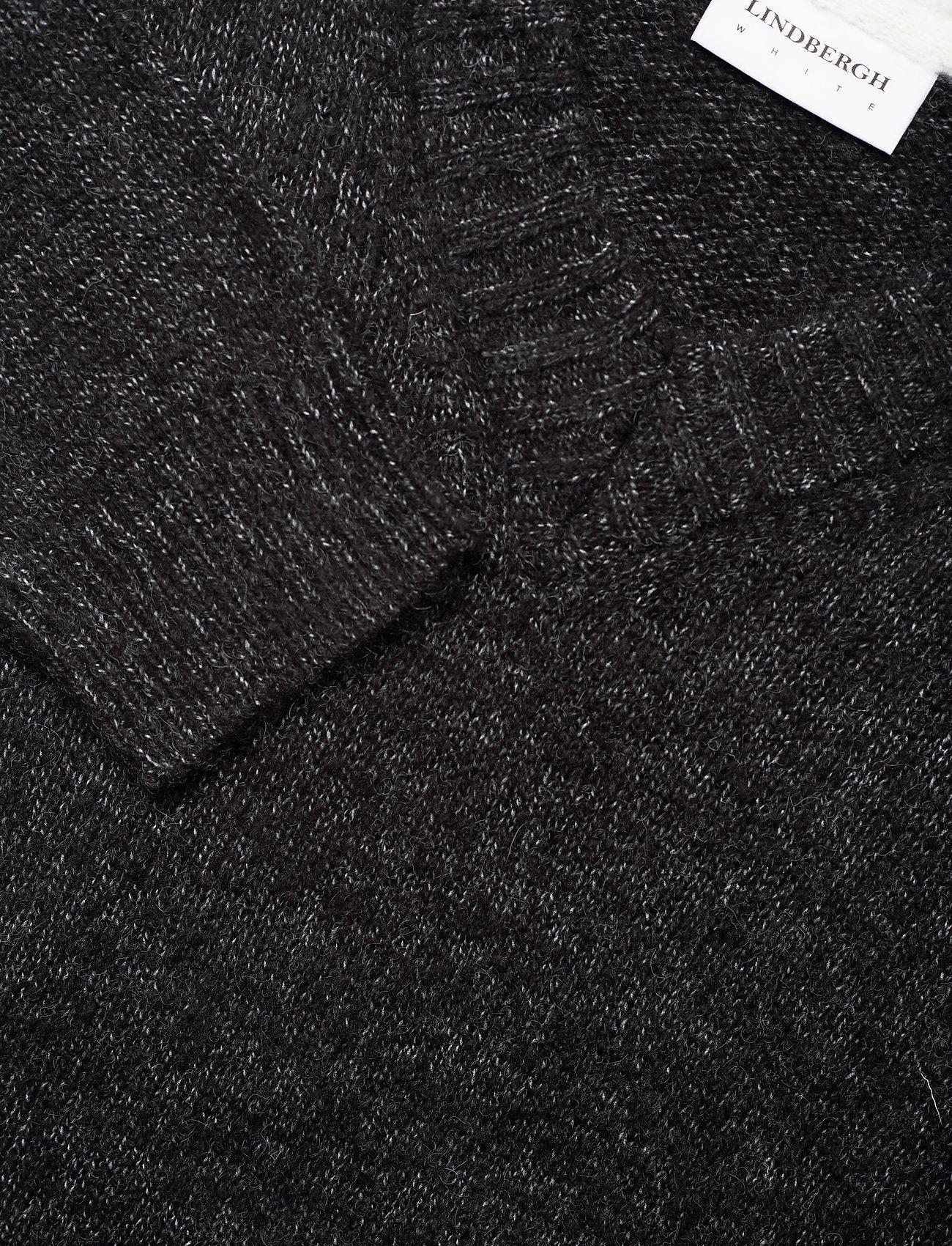 Contrast Melange Knit V-neck (Black Mel) (59.95 €) - Lindbergh gyQI6