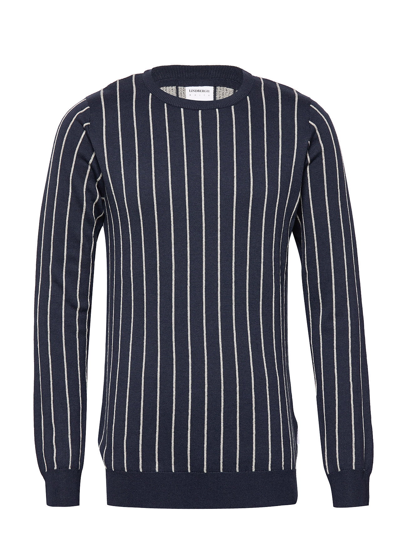 Lindbergh Vertical stripe knit - DK BLUE