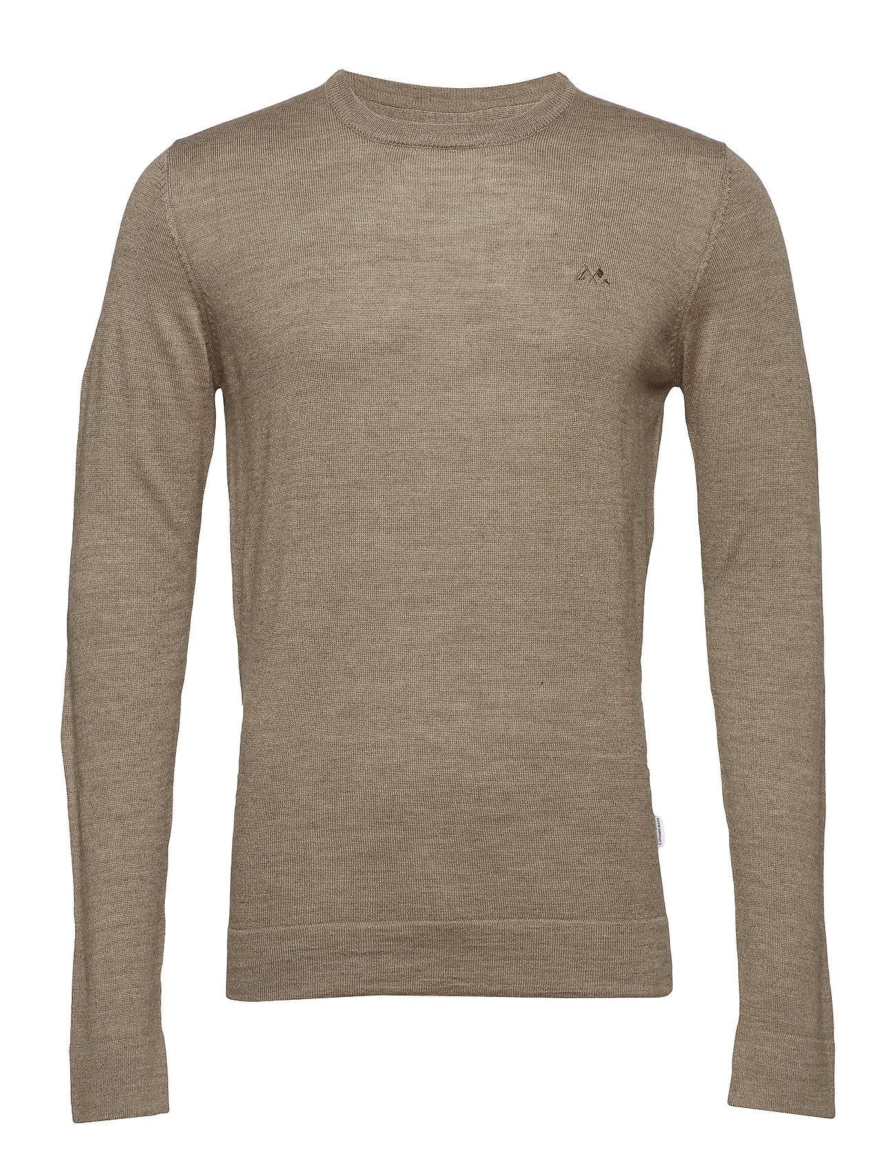 Lindbergh Merino knit o-neck - DK SAND
