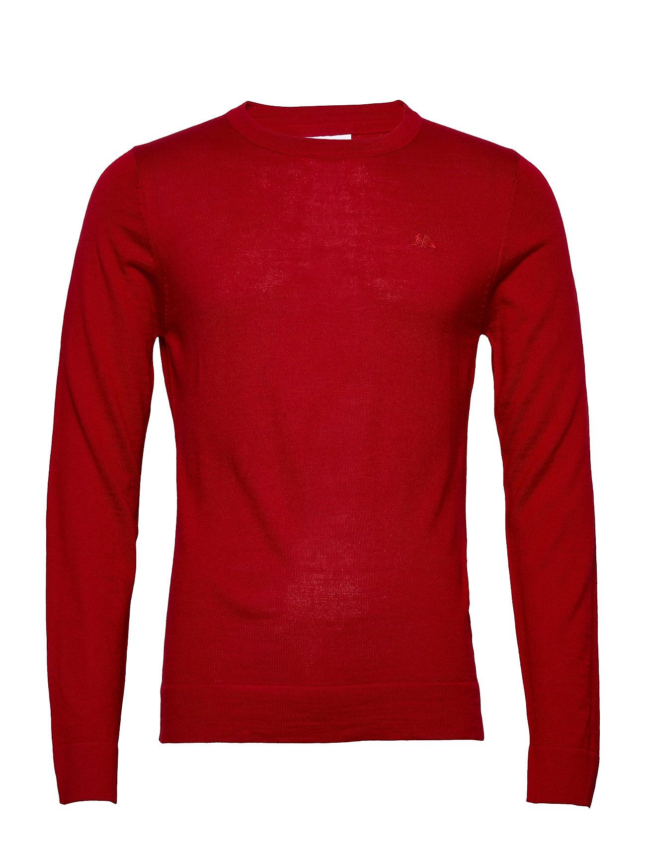 Lindbergh Merino knit o-neck - PURE RED