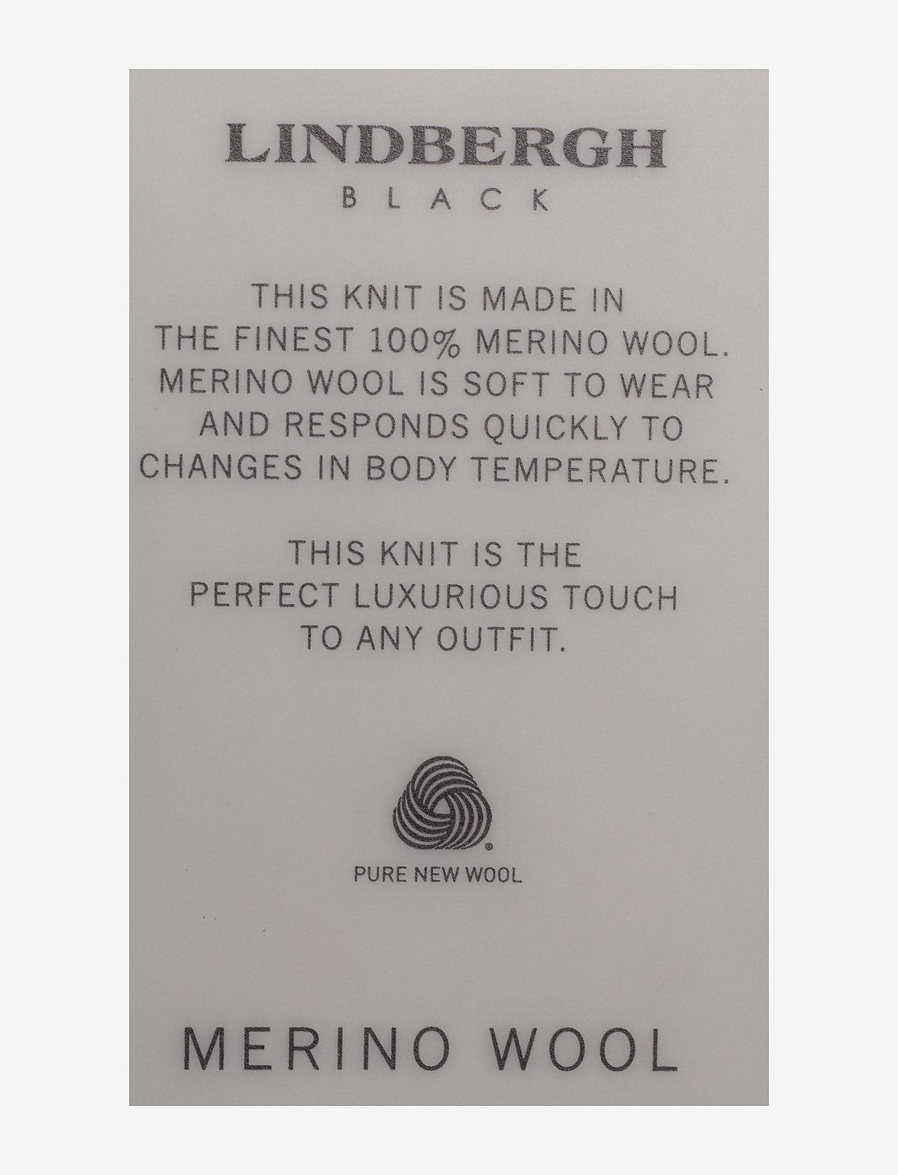 Lindbergh 100 % merino v-neck knit - Strikkevarer DEEP BORDEAUX MEL - Menn Klær