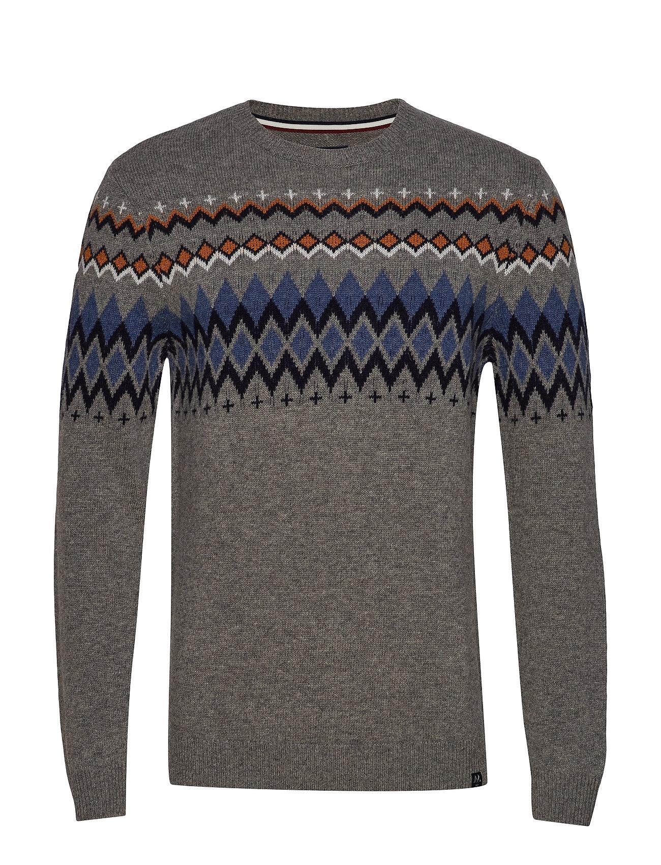 Lindbergh Lambswool jacquard knit - GREY MEL