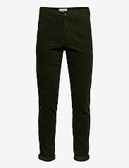 Lindbergh - Corduroy slim fit pants - rennot - army - 0