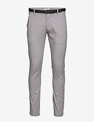 Lindbergh - Classic stretch chino W. belt - chinot - silver - 1