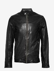 Lindbergh - Leather jacket - lederjacken - black - 1