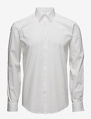 Mens stretch shirt L/S - WHITE