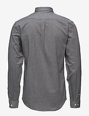 Lindbergh - Mouliné stretch shirt L/S - peruspaitoja - black - 2