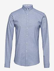 Lindbergh - Mouliné stretch shirt L/S - peruspaitoja - lt blue - 1