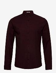 Lindbergh - Mouliné stretch shirt L/S - peruspaitoja - lt bordeaux - 1