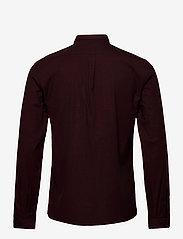 Lindbergh - Mouliné stretch shirt L/S - peruspaitoja - lt bordeaux - 2