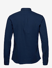 Lindbergh - Mouliné stretch shirt L/S - peruspaitoja - navy - 1