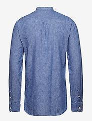 Lindbergh - Linen shirt L/S - puuvillapaidat - blue - 2