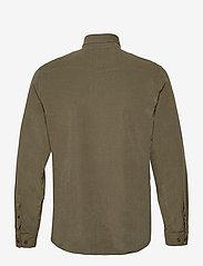 Lindbergh - L/S corduroy shirt - peruspaitoja - army - 2