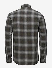 Lindbergh - Herringbone check shirt - checkered shirts - black - 1