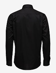 Lindbergh - Plain fine twill shirt,WF - basic shirts - black - 2