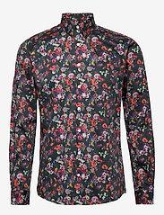 Lindbergh - AOP shirt L/S - chemises décontractées - navy - 1