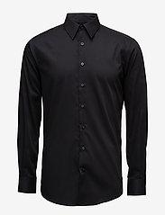 Lindbergh - Basic Shirt L/S - peruspaitoja - black - 0