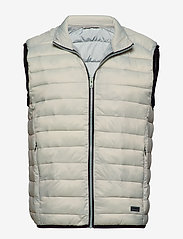 Lindbergh - Light puffer gilet - liivit - lt grey - 1