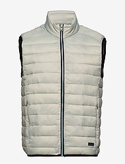 Lindbergh - Light puffer gilet - liivit - lt grey - 0