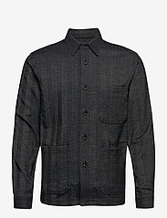 Lindbergh - Herringbone overshirt - yläosat - black mix - 1