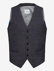 Lindbergh - Checked waist coat - waistcoats - grey check - 0