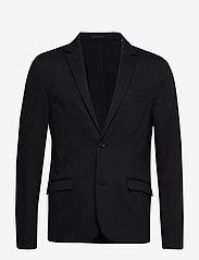 Lindbergh - Superflex knitted blazer - single breasted blazers - black - 1