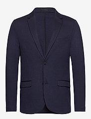Lindbergh - Superflex knitted blazer - single breasted blazers - navy mix - 1