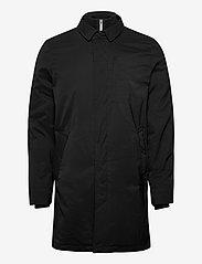 Lindbergh - Twill coat w detachable collar - manteaux legères - black - 1