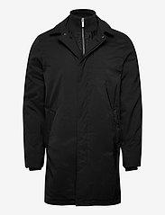 Lindbergh - Twill coat w detachable collar - manteaux legères - black - 2