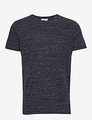 Lindbergh - Neps structure tee S/S - lyhythihaiset - dk blue - 0